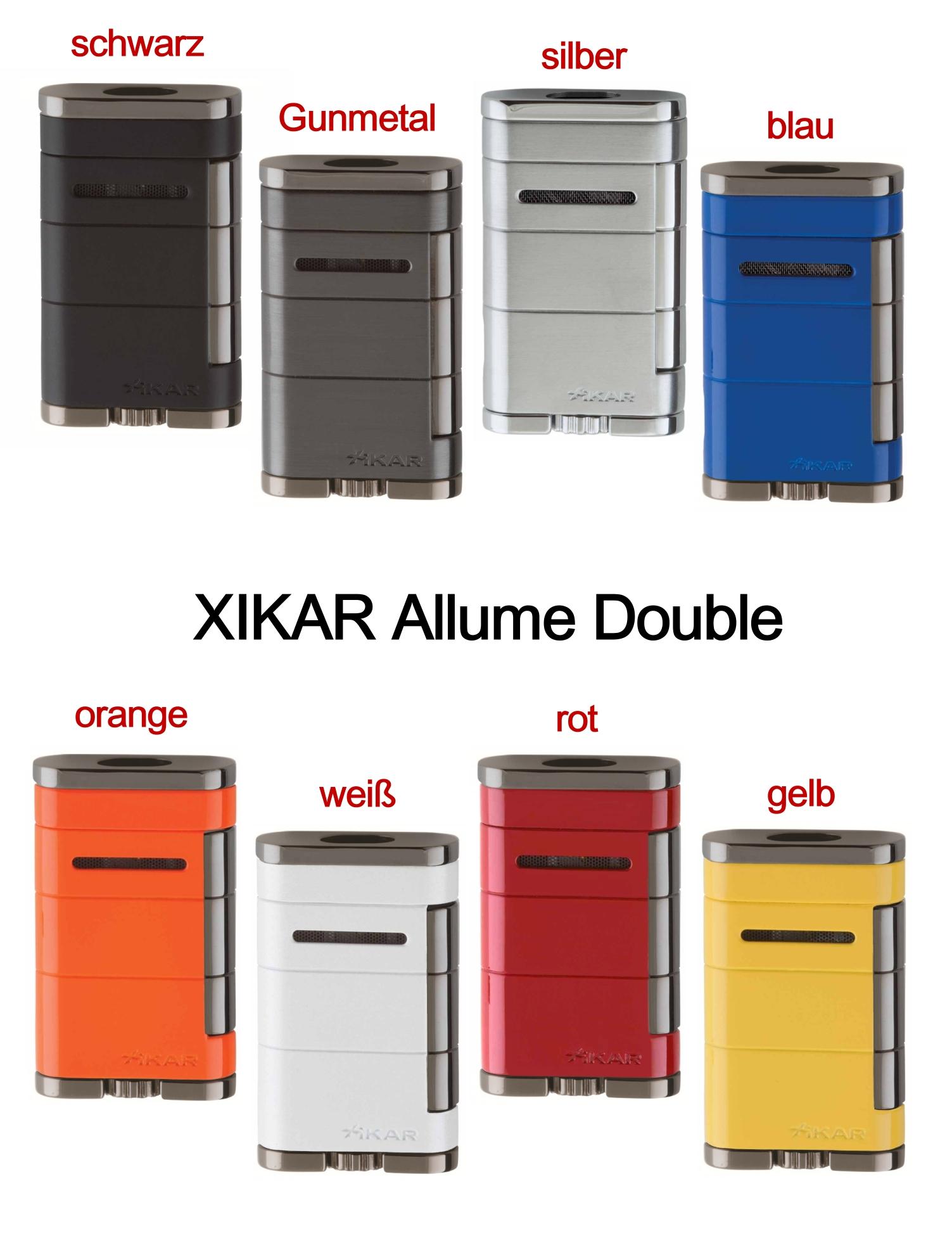 xikar allume double jet feuerzeug gunmetal 1533g2 mit 20 jahre garantie ebay. Black Bedroom Furniture Sets. Home Design Ideas